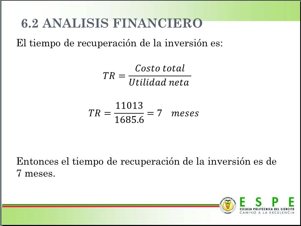 6.2 ANALISIS FINANCIERO