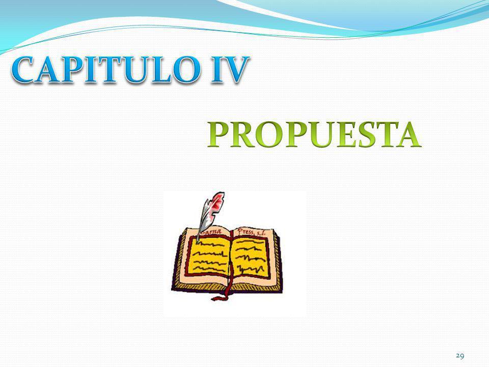 CAPITULO IV PROPUESTA