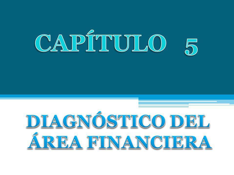 CAPÍTULO 5 DIAGNÓSTICO DEL ÁREA FINANCIERA