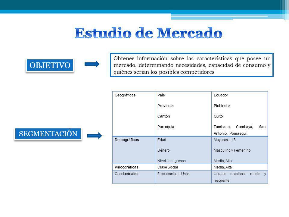 Estudio de Mercado OBJETIVO SEGMENTACIÓN