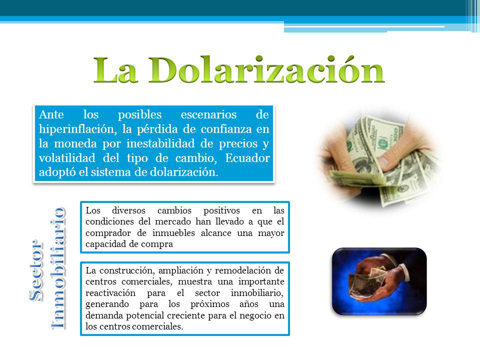 La Dolarización Inmobiliario Sector