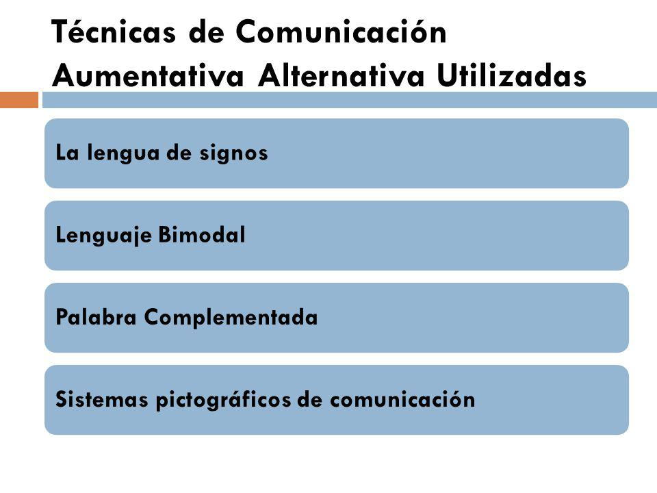 Técnicas de Comunicación Aumentativa Alternativa Utilizadas