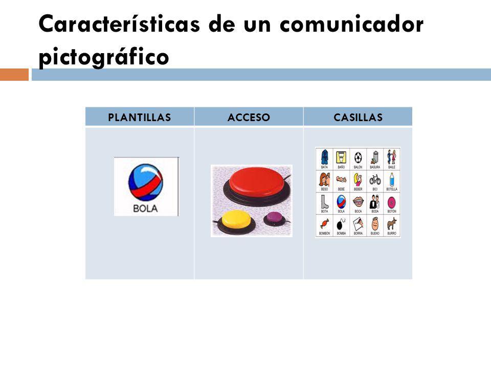 Características de un comunicador pictográfico