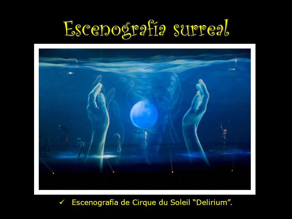 Escenografía surreal Escenografía de Cirque du Soleil Delirium .