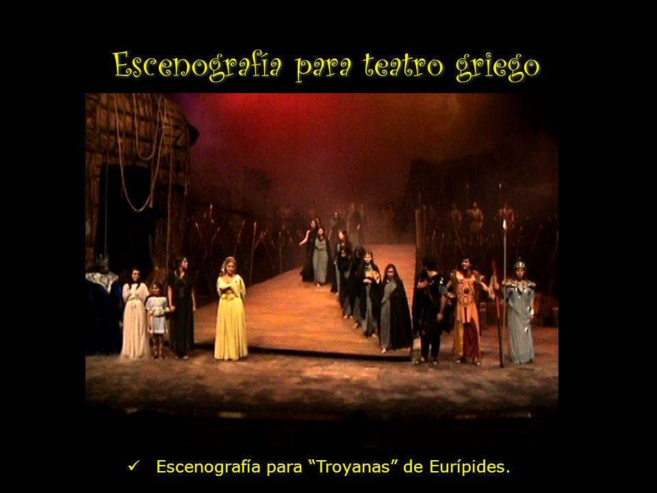 Escenografía para teatro griego