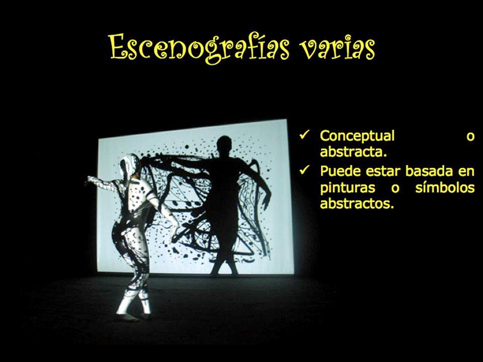 Escenografías varias Conceptual o abstracta.