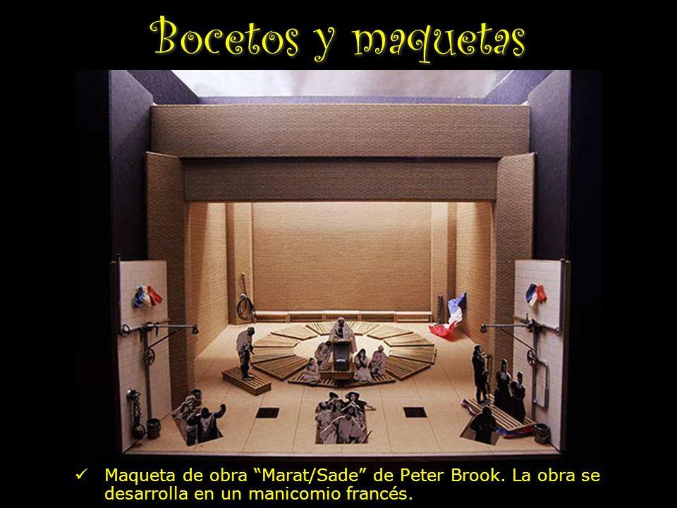 Bocetos y maquetas Maqueta de obra Marat/Sade de Peter Brook.