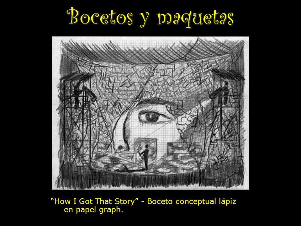 Bocetos y maquetas How I Got That Story - Boceto conceptual lápiz en papel graph.