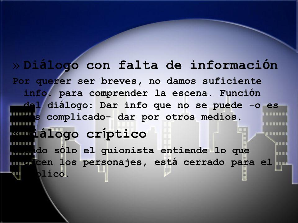 Diálogo con falta de información
