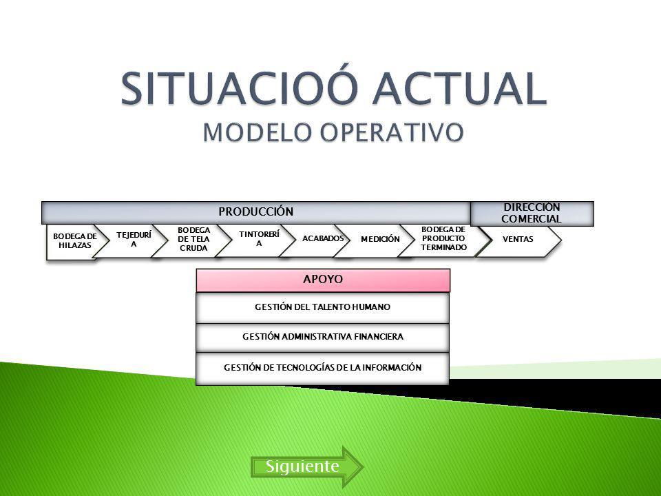SITUACIOÓ ACTUAL MODELO OPERATIVO