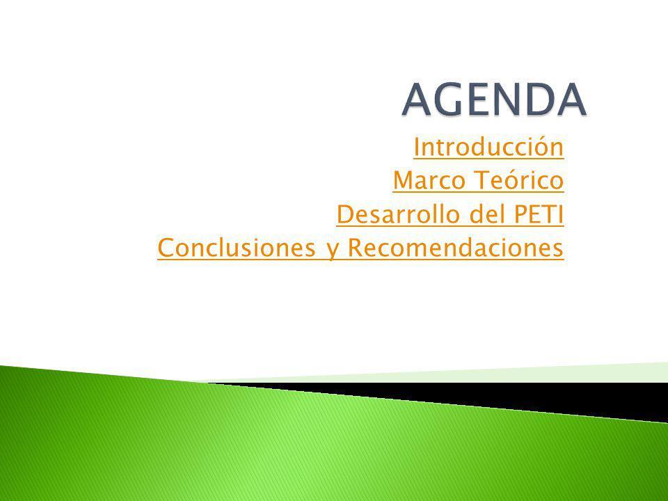 AGENDA Introducción Marco Teórico Desarrollo del PETI