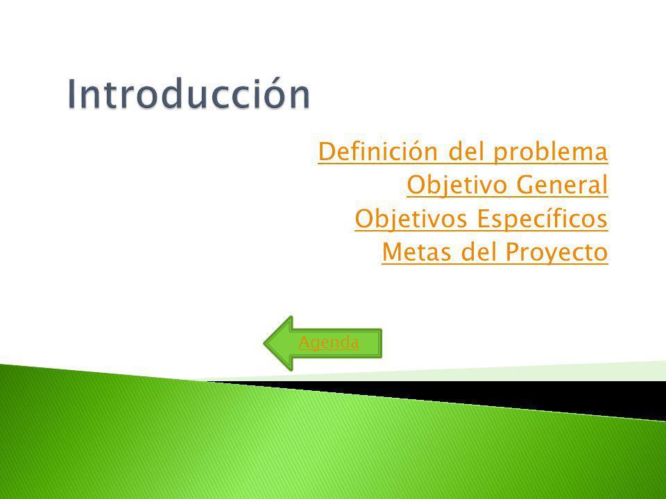 Introducción Definición del problema Objetivo General