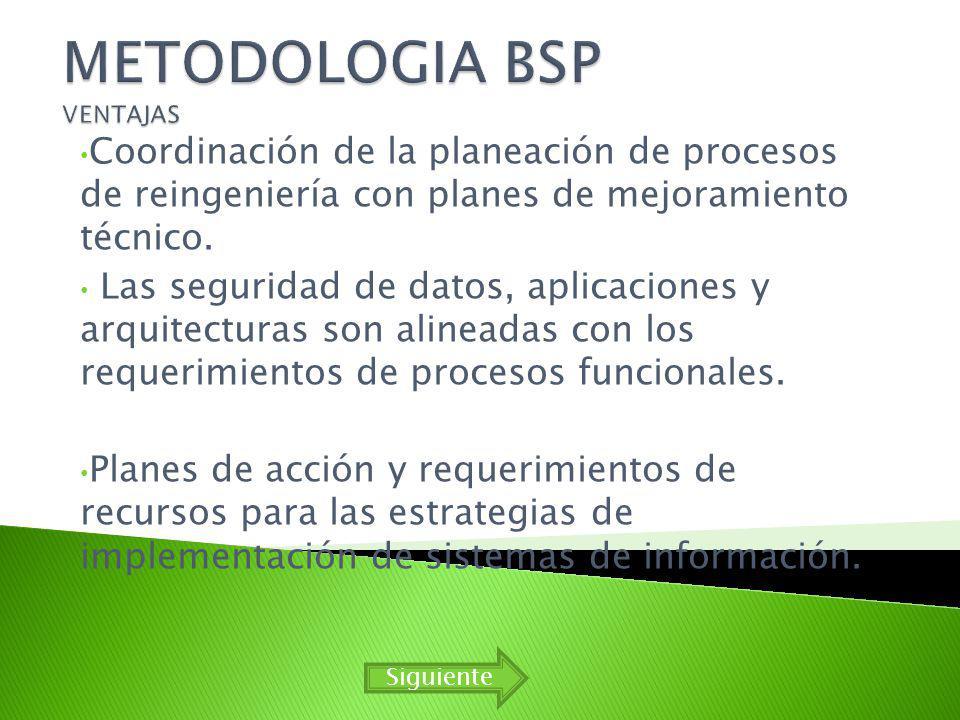 METODOLOGIA BSP VENTAJAS