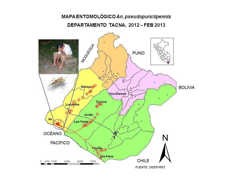 MAPA ENTOMOLÓGICO An. pseudopunctipennis