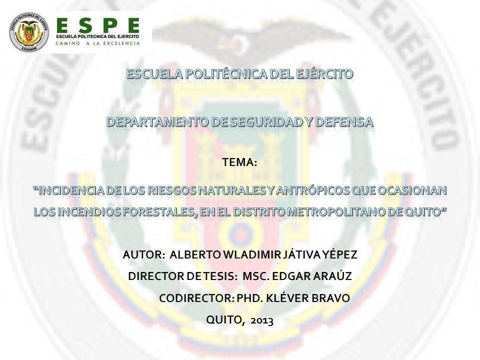 ESCUELA POLITÉCNICA DEL EJÉRCITO DEPARTAMENTO DE SEGURIDAD Y DEFENSA