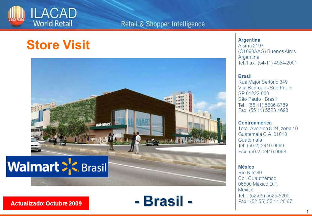 - Brasil - Store Visit Actualizado: Octubre 2009 Argentina