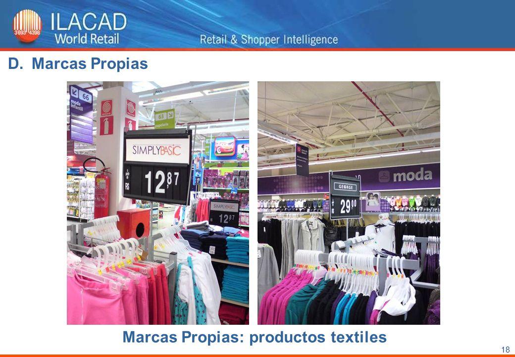 Marcas Propias Marcas Propias: productos textiles