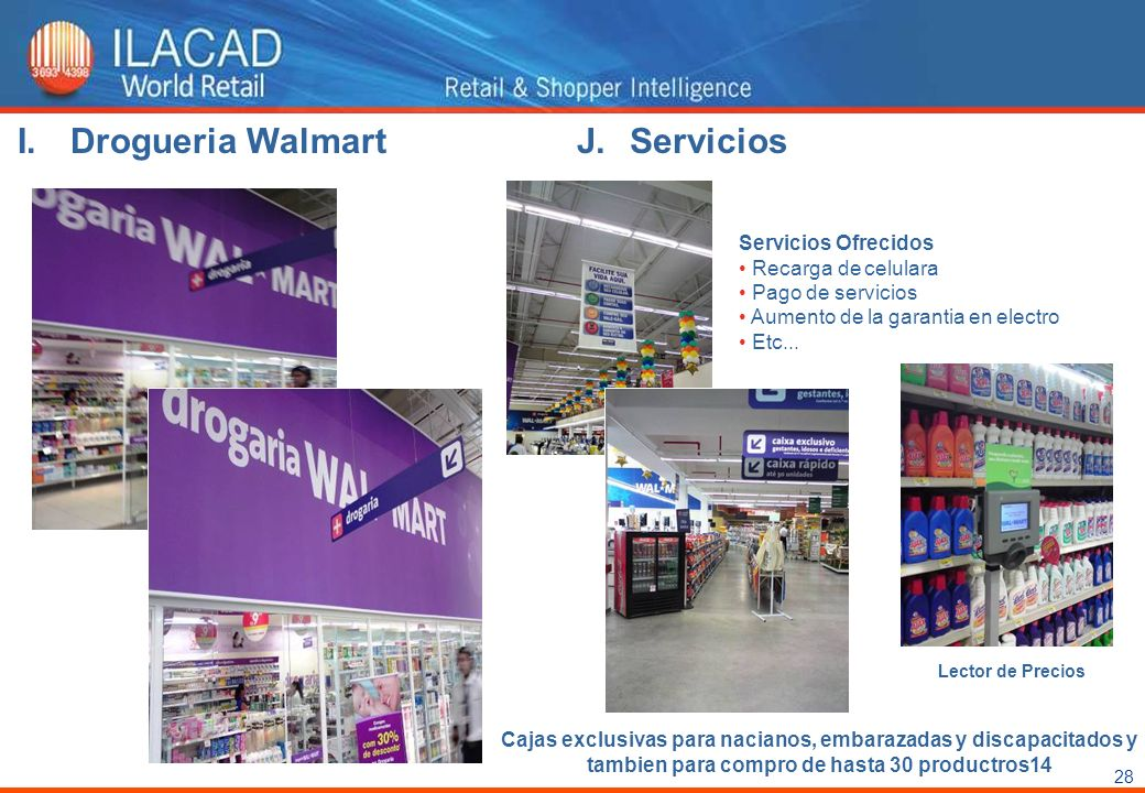 Drogueria Walmart Servicios Servicios Ofrecidos Recarga de celulara
