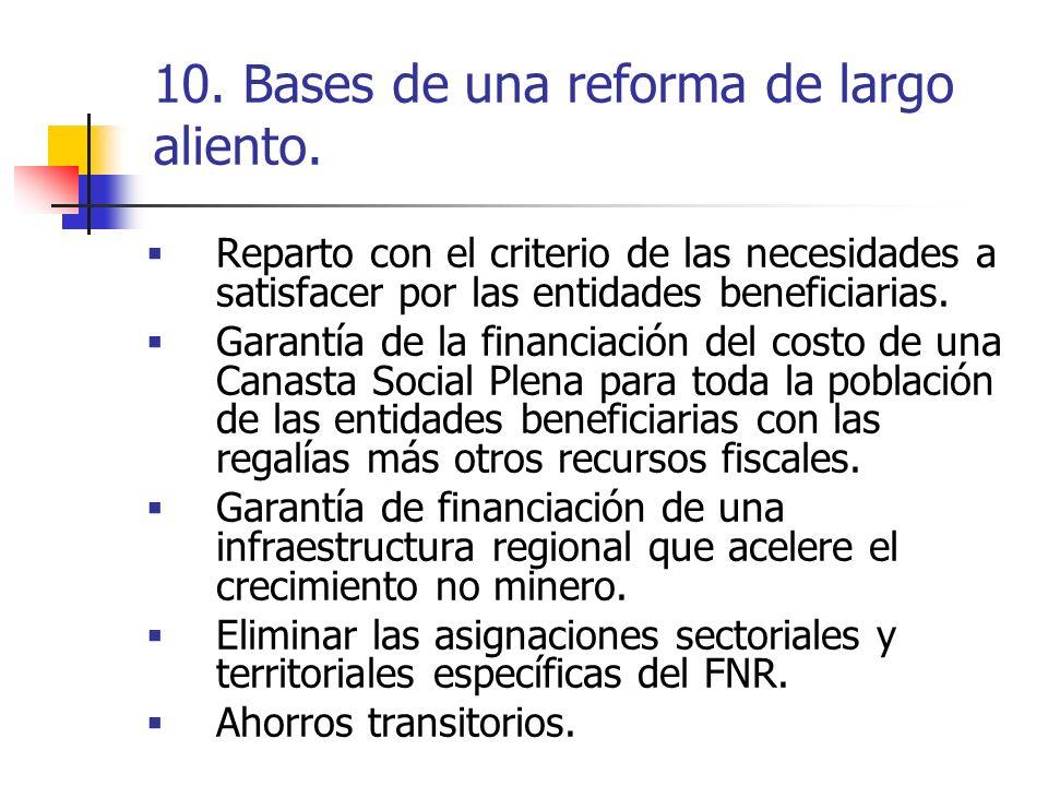 10. Bases de una reforma de largo aliento.