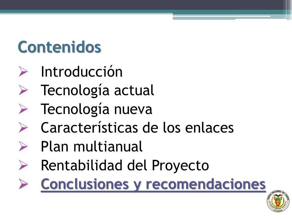 Contenidos Introducción Tecnología actual Tecnología nueva