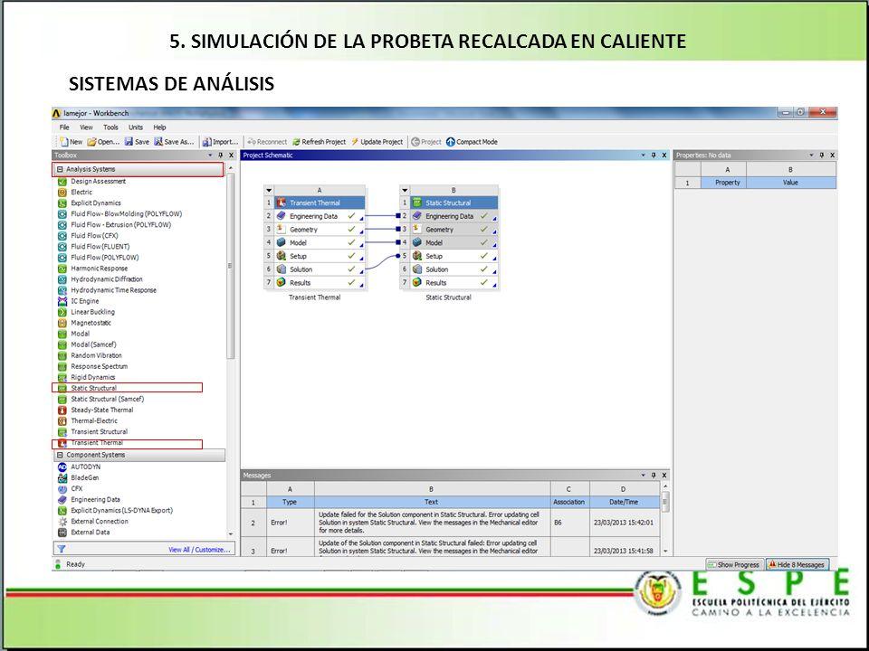 5. SIMULACIÓN DE LA PROBETA RECALCADA EN CALIENTE
