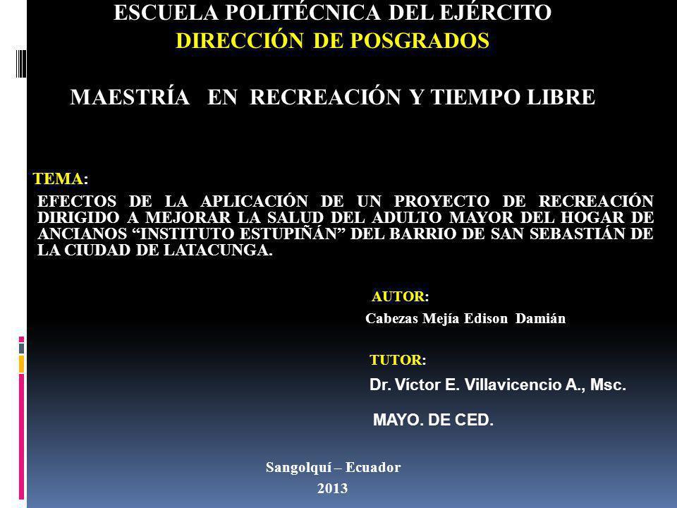 ESCUELA POLITÉCNICA DEL EJÉRCITO DIRECCIÓN DE POSGRADOS