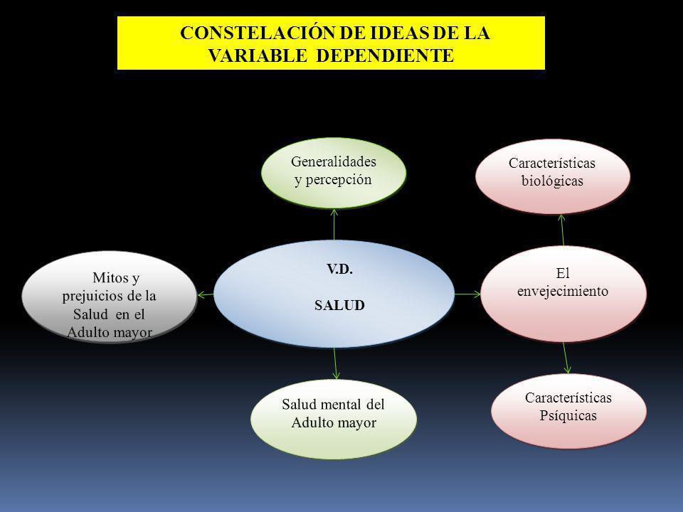 CONSTELACIÓN DE IDEAS DE LA VARIABLE DEPENDIENTE