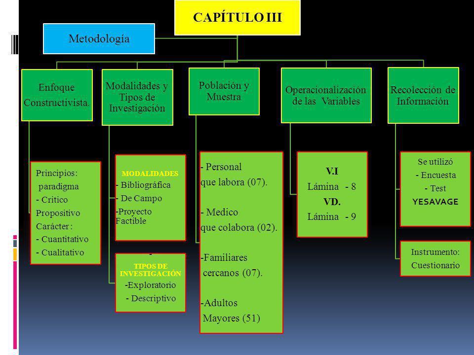 CAPÍTULO III Metodología Enfoque Constructivista.