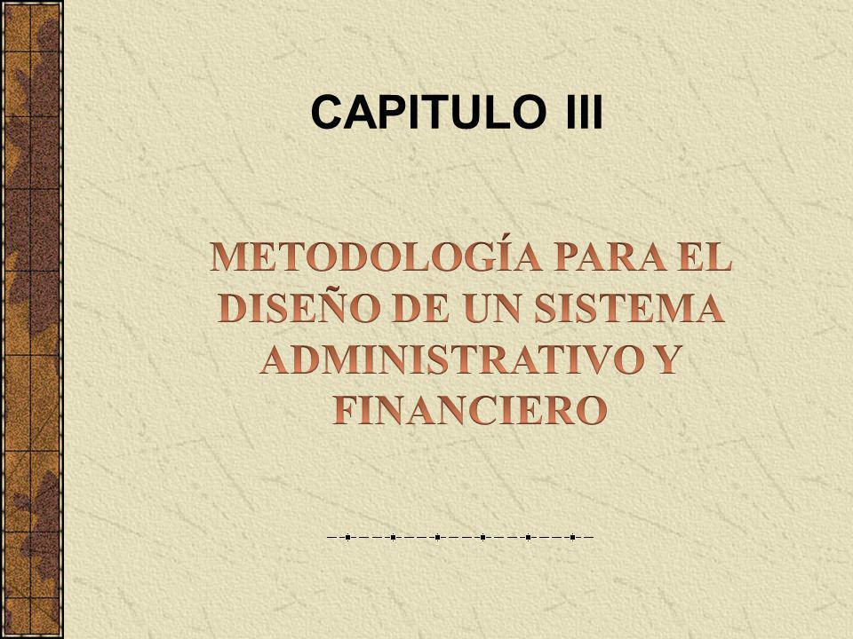 METODOLOGÍA PARA EL DISEÑO DE UN SISTEMA ADMINISTRATIVO Y FINANCIERO