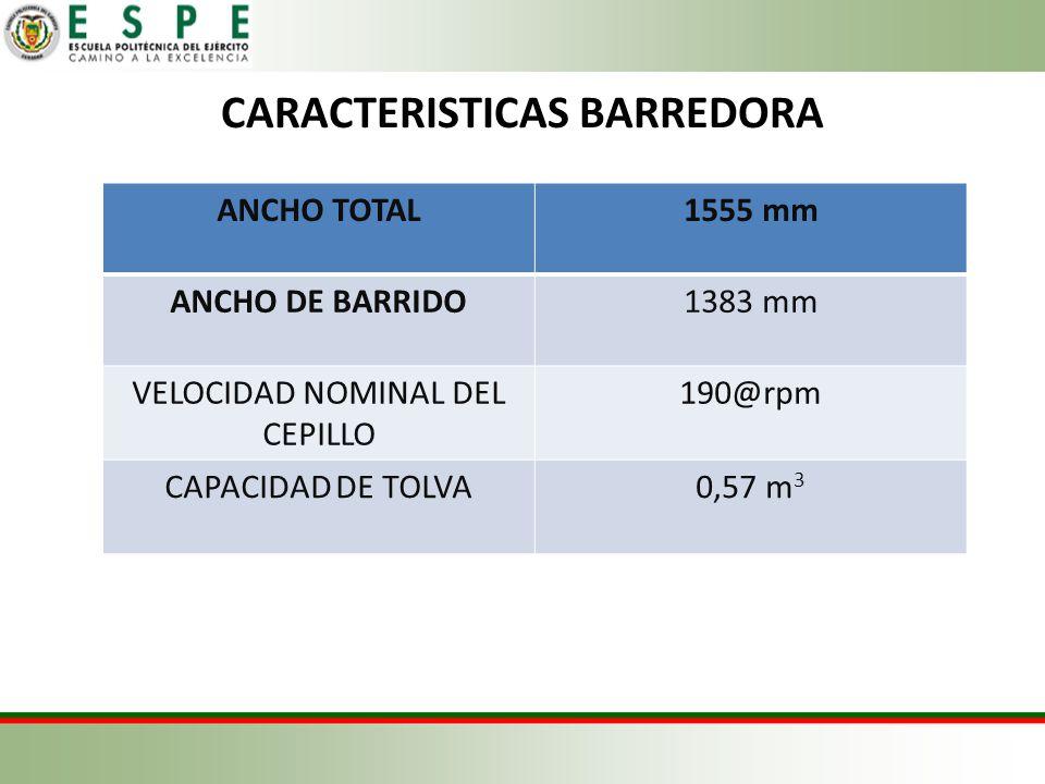 CARACTERISTICAS BARREDORA
