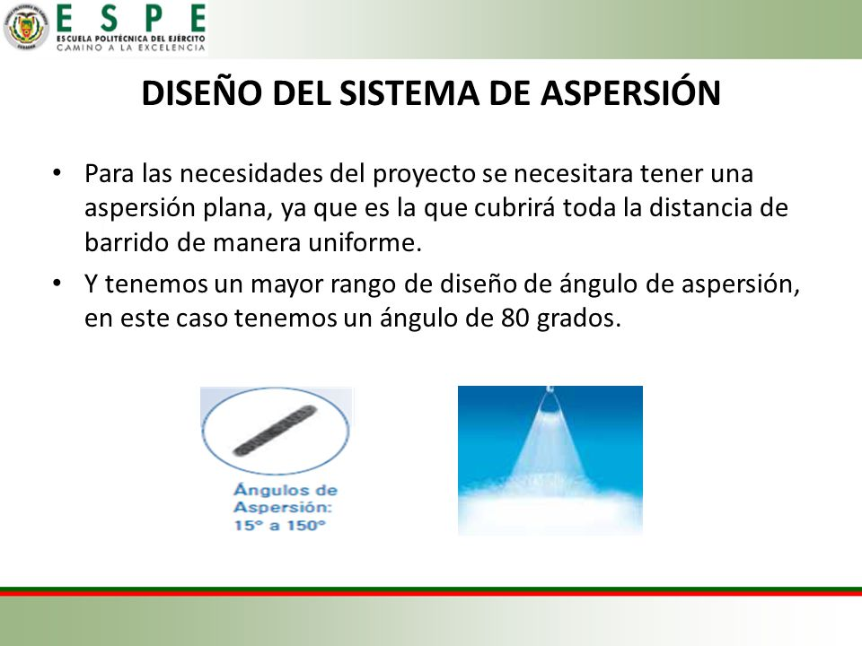 DISEÑO DEL SISTEMA DE ASPERSIÓN