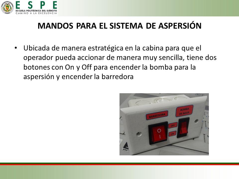 MANDOS PARA EL SISTEMA DE ASPERSIÓN