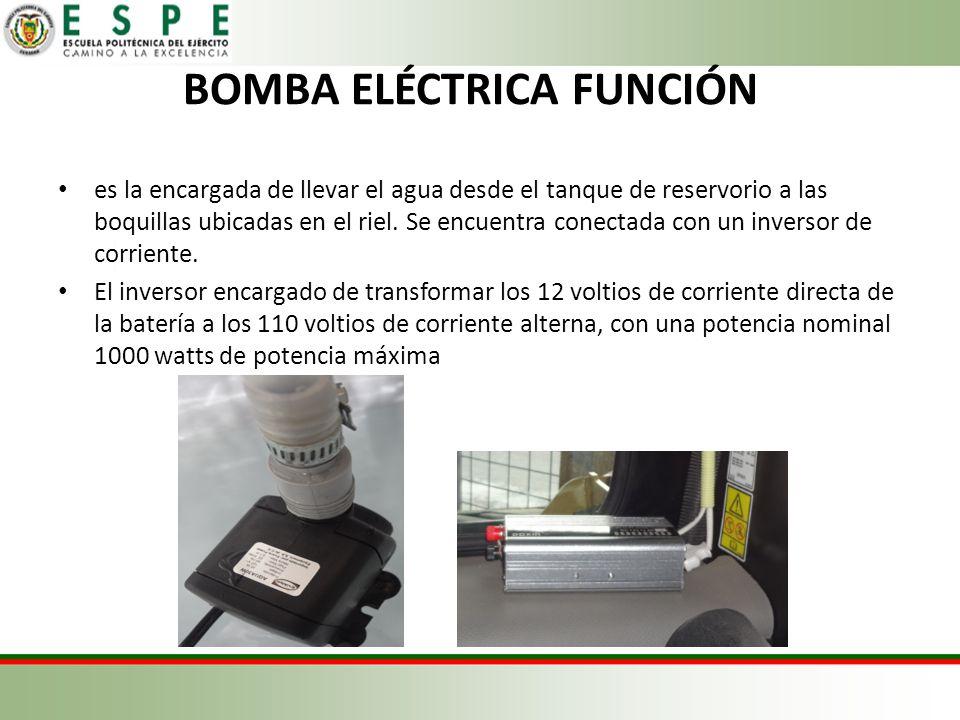 BOMBA ELÉCTRICA FUNCIÓN