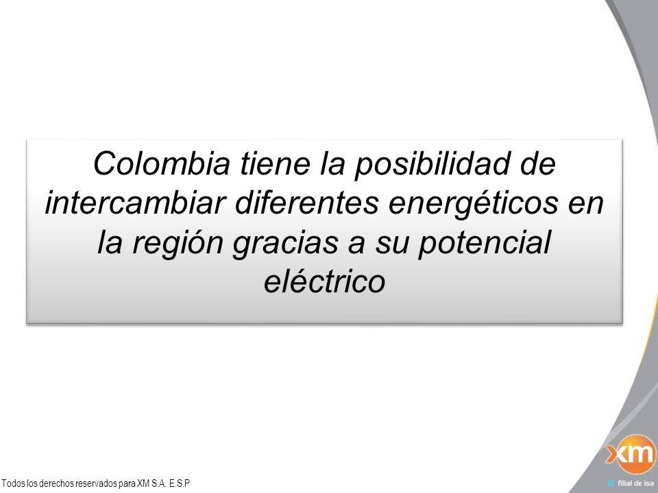 Colombia tiene la posibilidad de intercambiar diferentes energéticos en la región gracias a su potencial eléctrico