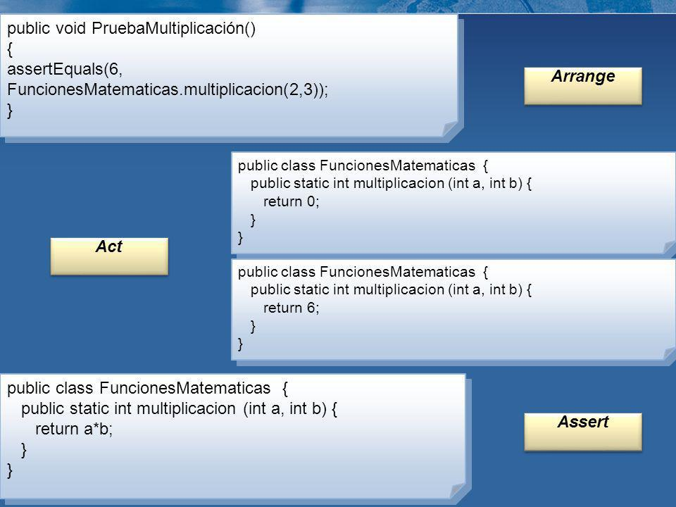 public void PruebaMultiplicación() {