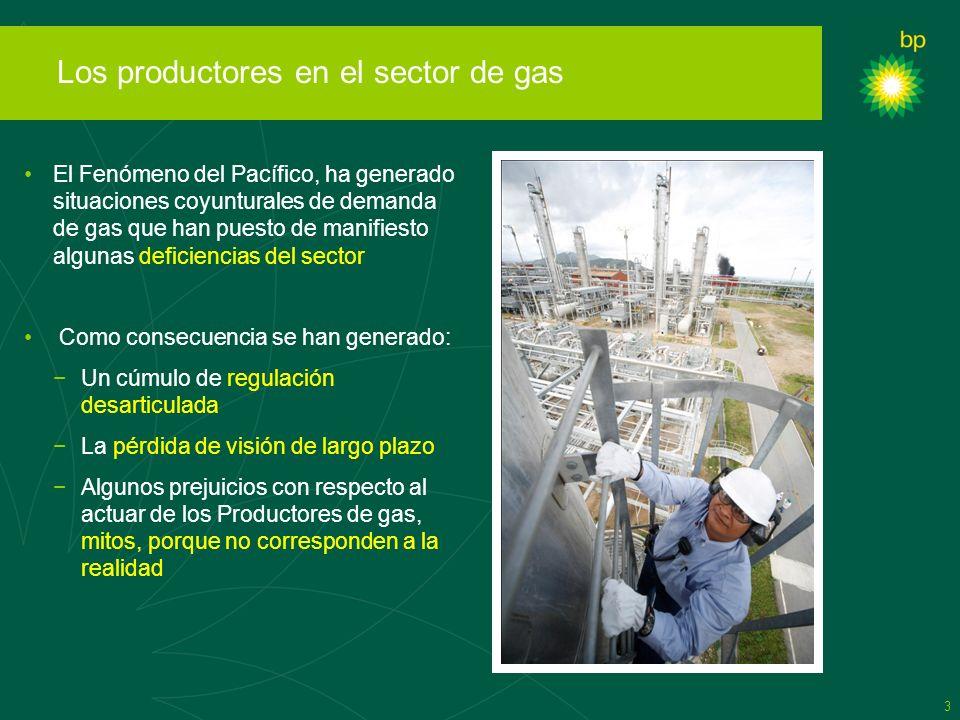 Los productores en el sector de gas