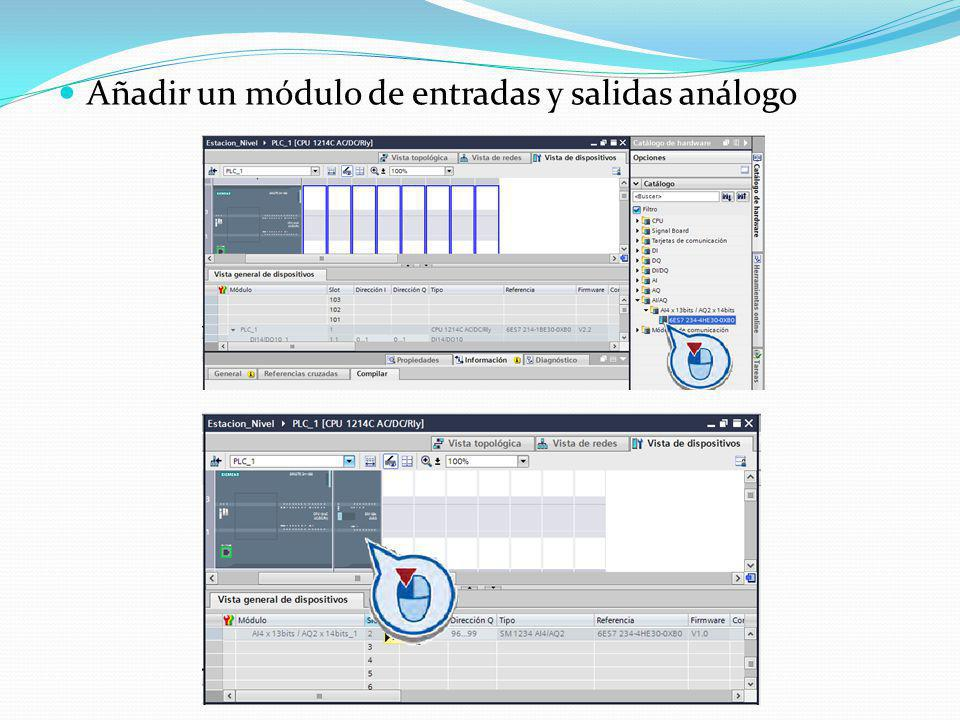 Añadir un módulo de entradas y salidas análogo