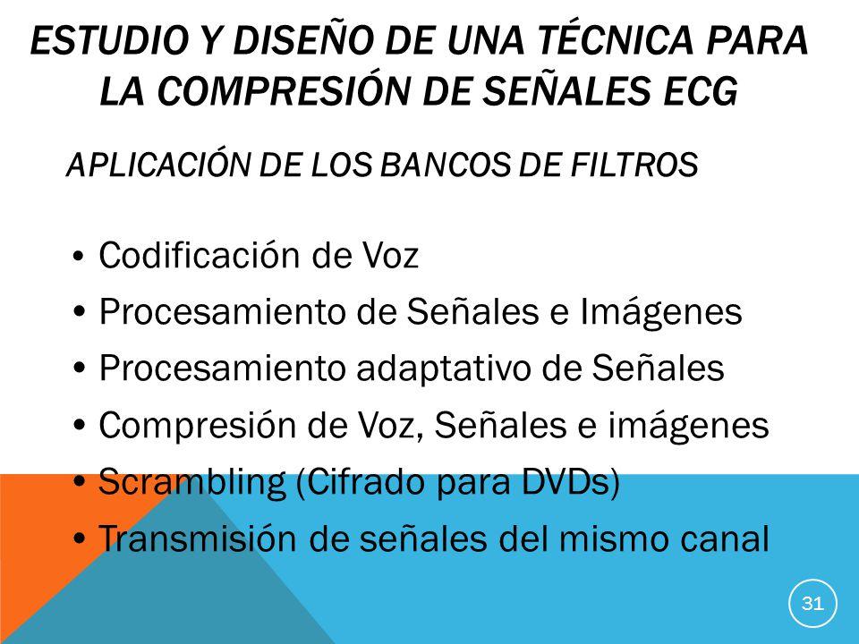 Estudio y diseño de una técnica para la compresión de señales ECG