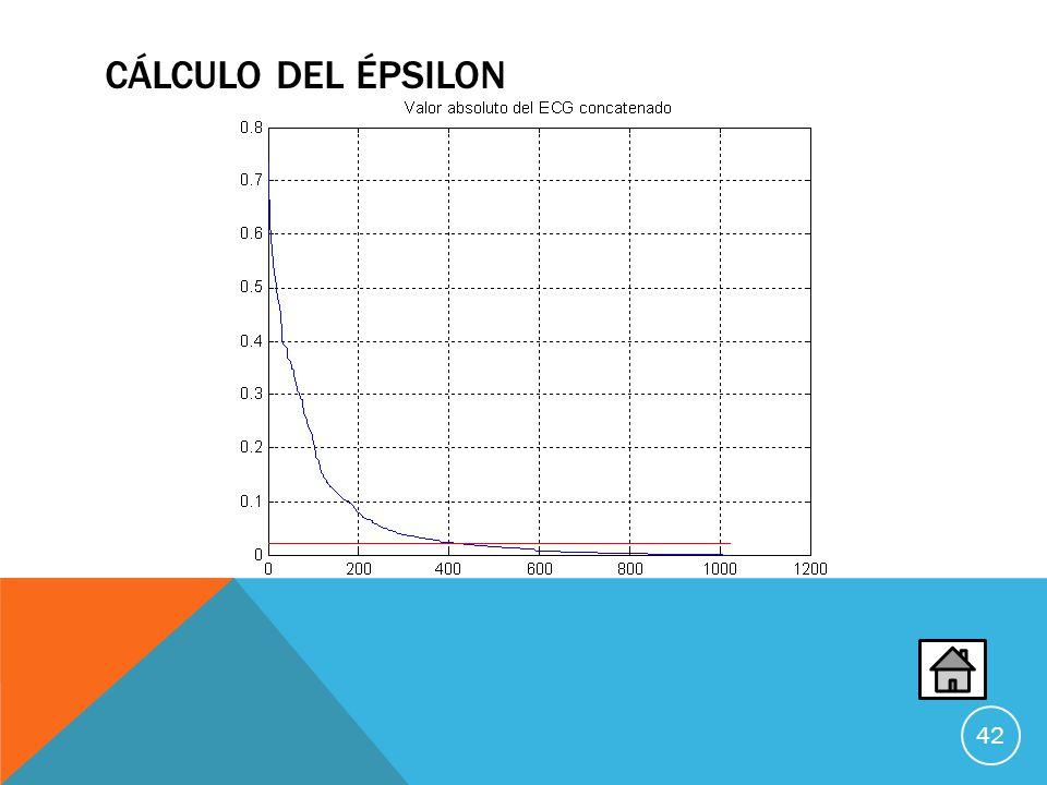 Cálculo del Épsilon