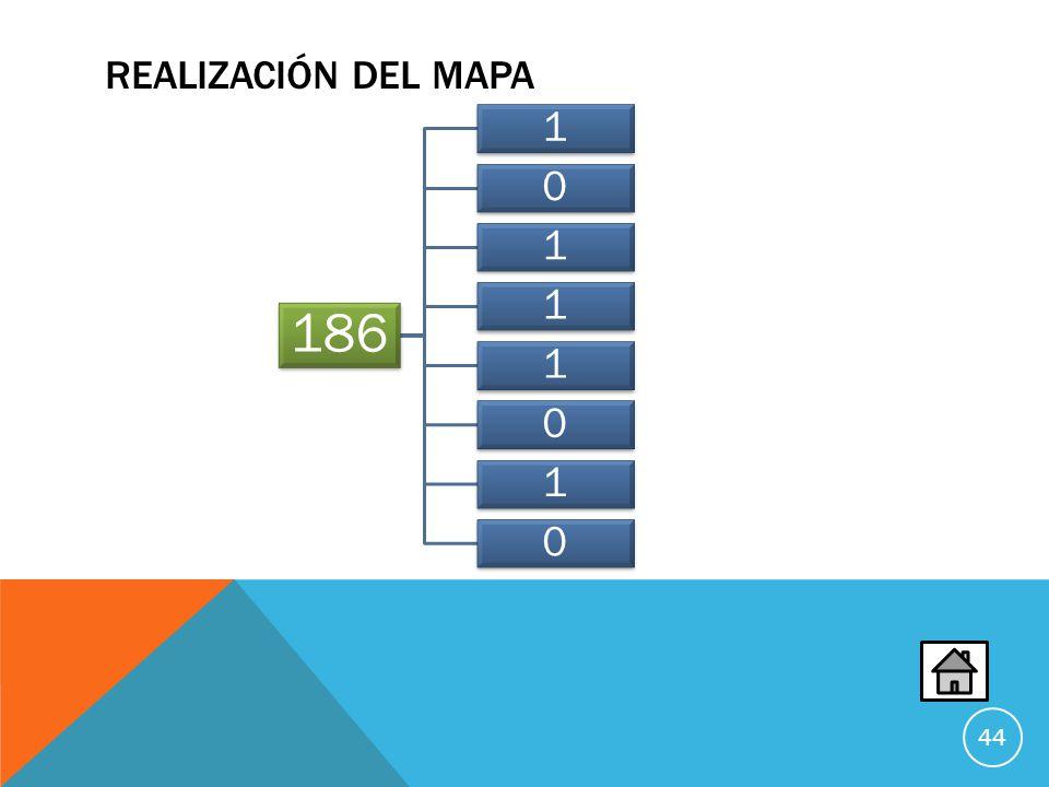 Realización del Mapa 186. 1.