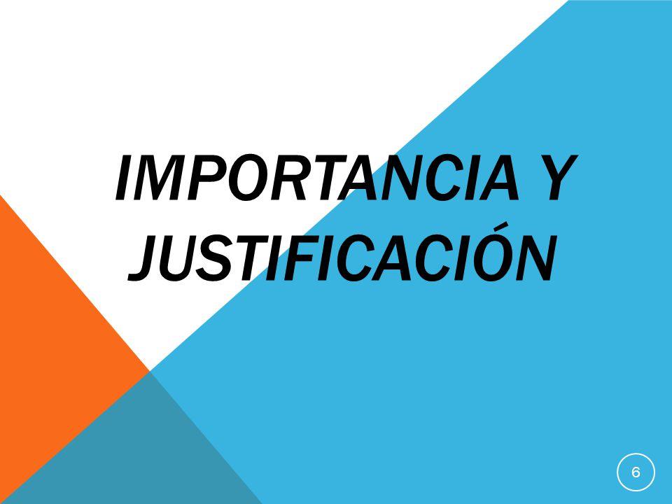 IMPORTANCIA Y JUSTIFICACIÓN