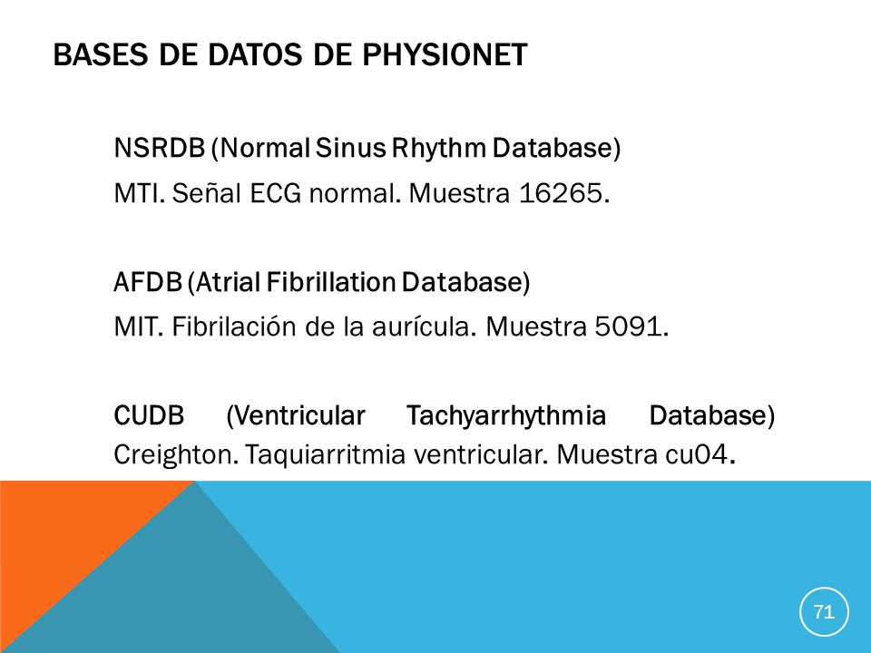 BASES DE DATOS de physionet