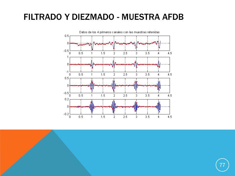 Filtrado Y DIEZMADO - MUESTRA AFDB