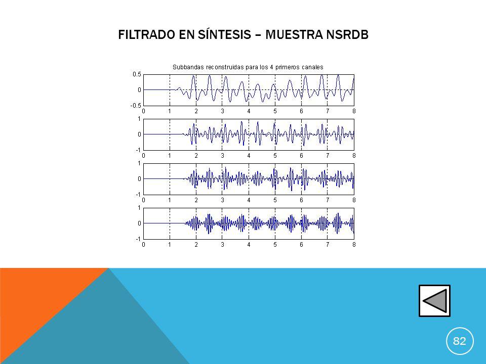 filtrado en síntesis – muestra nsrdb