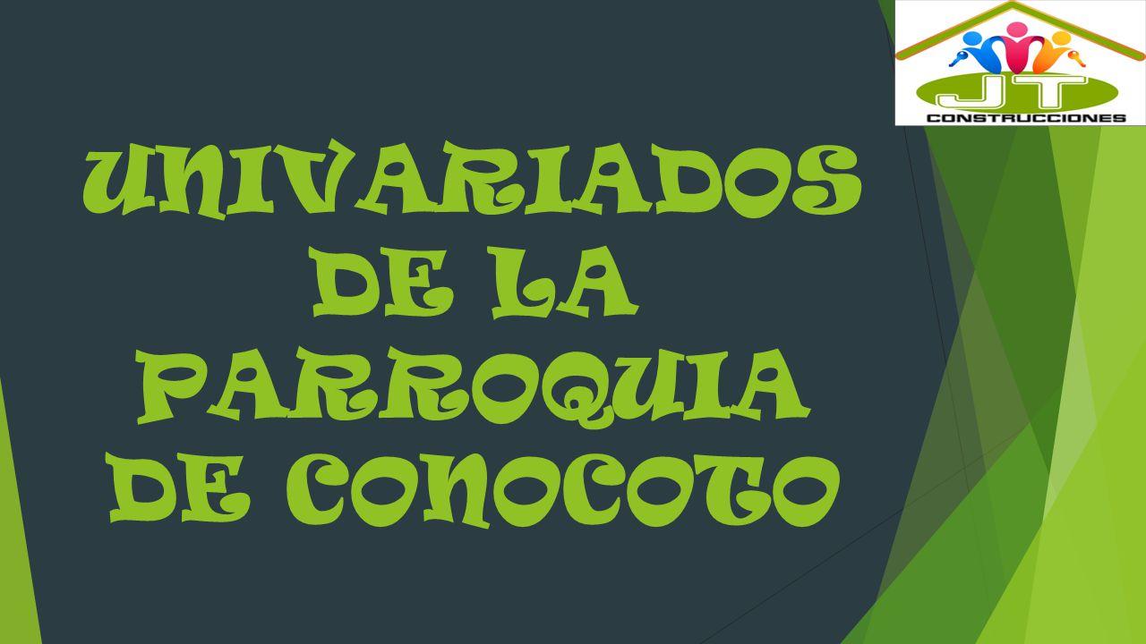 UNIVARIADOS DE LA PARROQUIA DE CONOCOTO