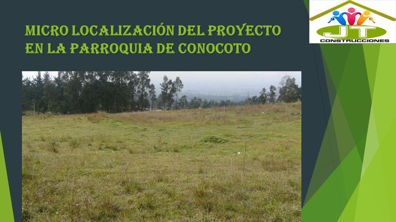 MIcro Localización del proyecto en la Parroquia de Conocoto