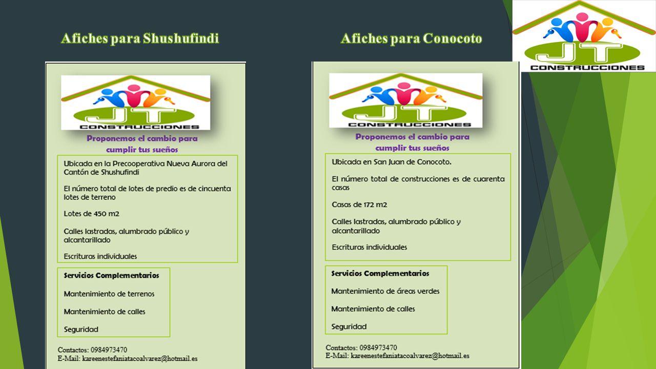 Afiches para Shushufindi Afiches para Conocoto