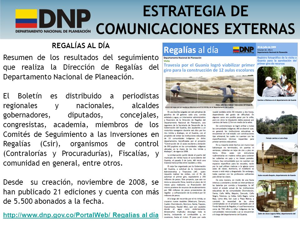 ESTRATEGIA DE COMUNICACIONES EXTERNAS