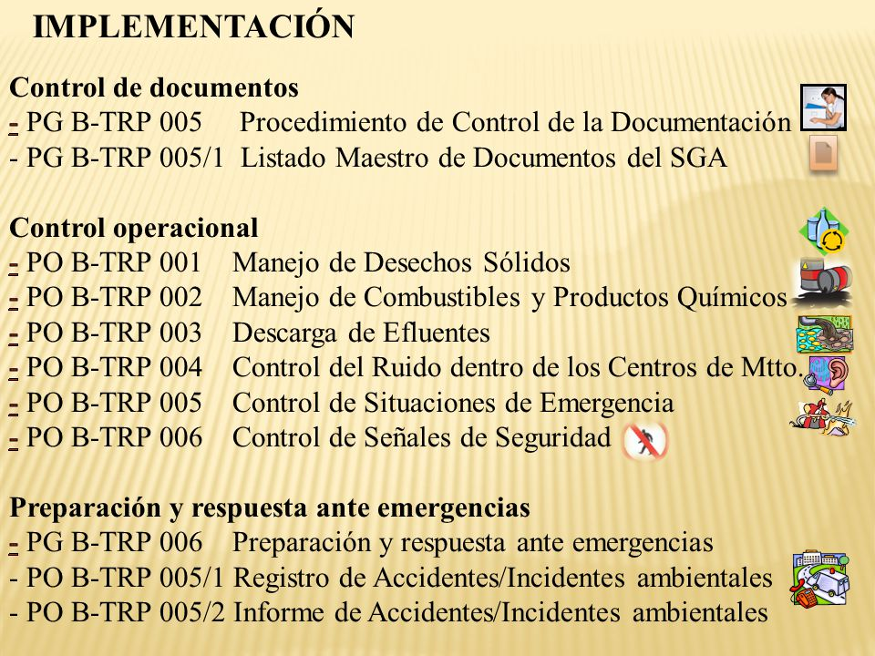 IMPLEMENTACIÓN Control de documentos