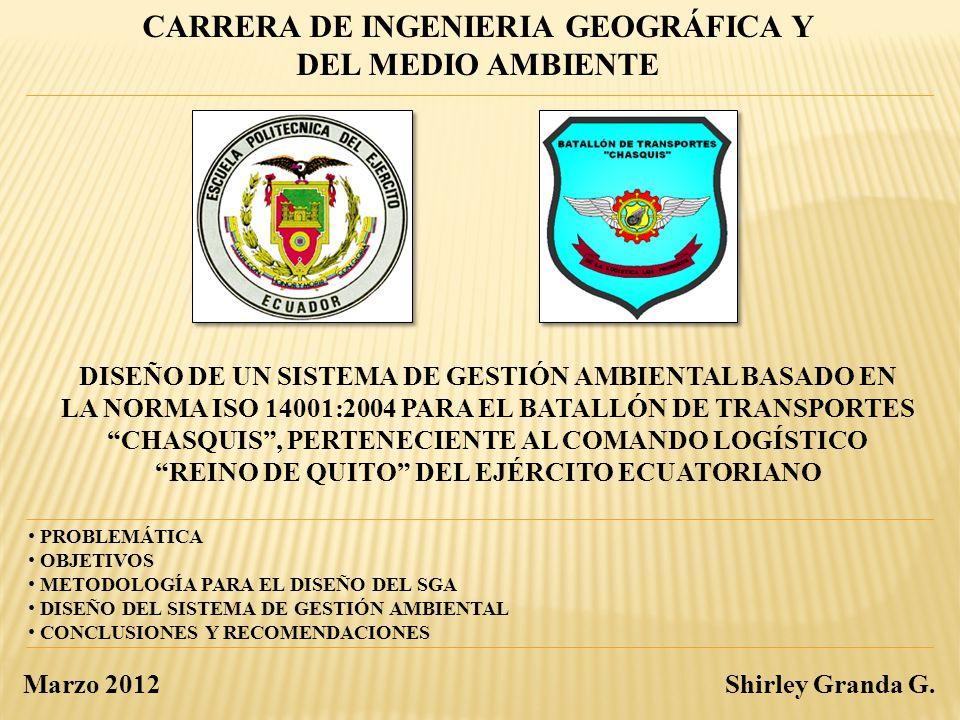 CARRERA DE INGENIERIA GEOGRÁFICA Y DEL MEDIO AMBIENTE